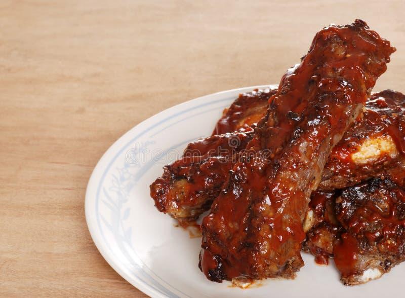 Behandelde het rundvlees krabbetjes van de barbecue saus royalty-vrije stock foto's