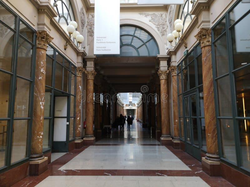 Behandelde passages van Parijs, Frankrijk Passage Colbert royalty-vrije stock afbeeldingen