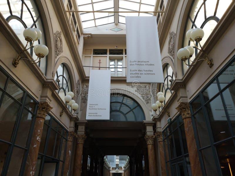 Behandelde passages van Parijs, Frankrijk Passage Colbert stock foto