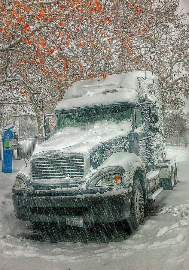 Behandelde sneeuw royalty-vrije stock fotografie