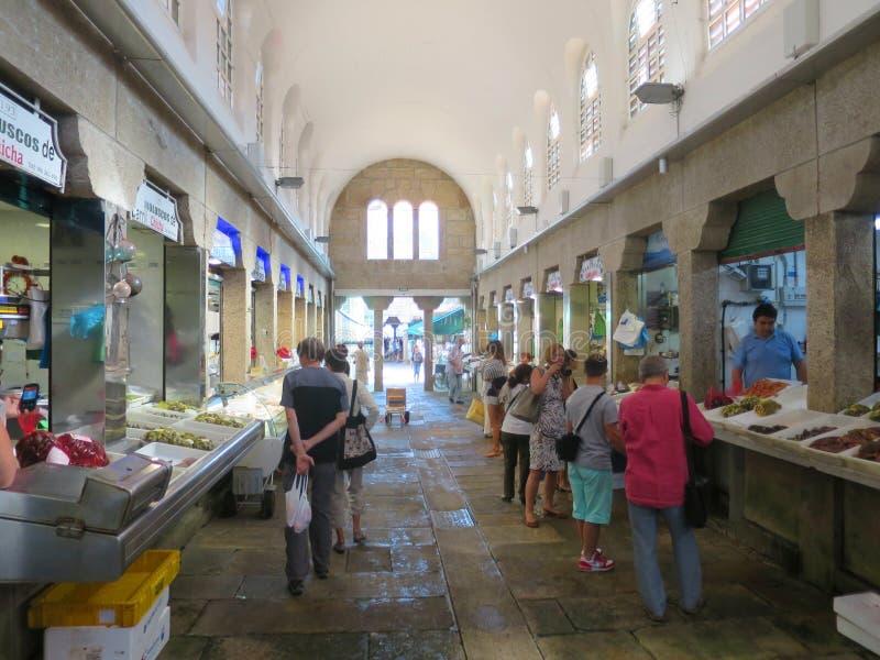 Behandelde vissenmarkt in Spanje royalty-vrije stock foto's