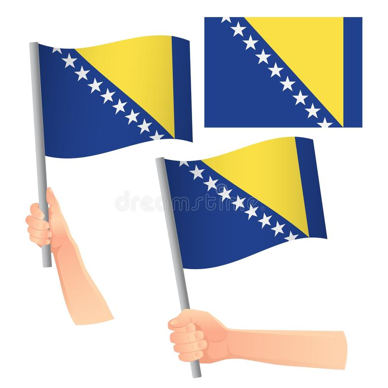 Behandelde vlag van Bosnië en Herzegovina royalty-vrije illustratie