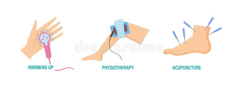 Behandeling en preventie van ziekten van de handen en de voeten, royalty-vrije illustratie