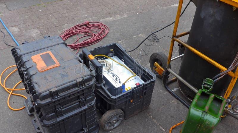 Behandeling van afvalwater, rioleringssysteem het schoonmaken royalty-vrije stock afbeelding