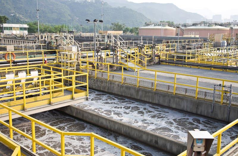 Behandelings van afvalwaterinstallatie royalty-vrije stock foto's