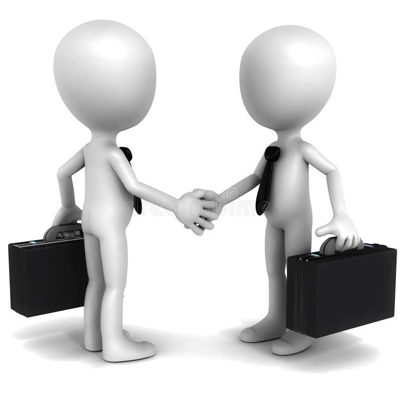 Behandeln Sie Vereinbarung lizenzfreie abbildung