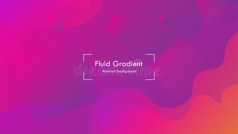 Behandelt de geometrische de gradiënt abstracte achtergrond van de elegantievorm, het modieuze Web sociale media van de affichevl royalty-vrije illustratie