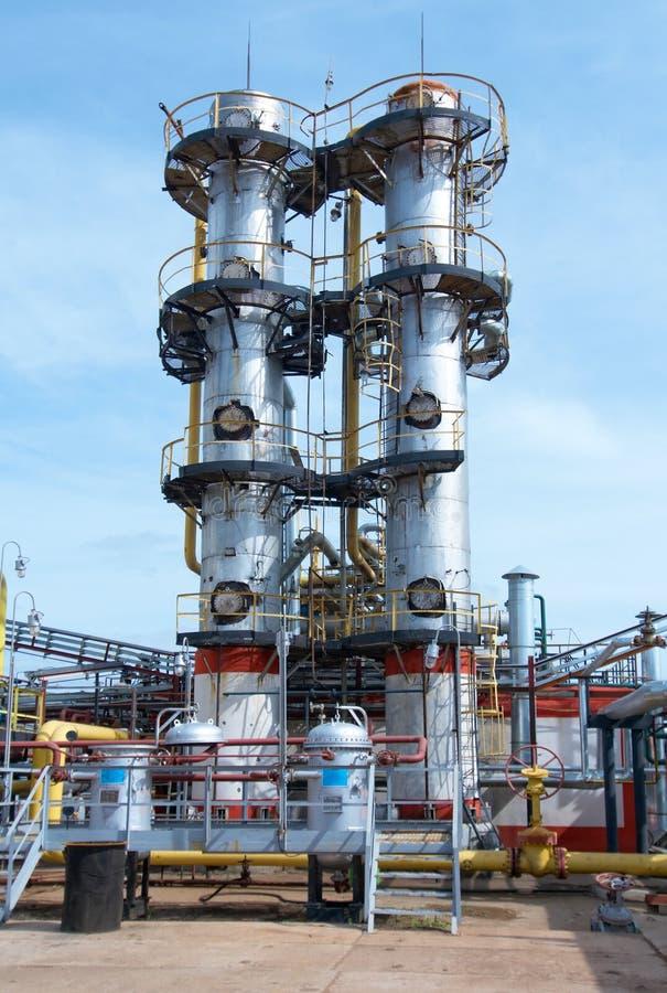 behandla för gasindustri arkivbild