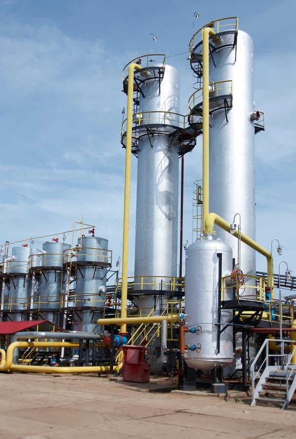 behandla för gasindustri royaltyfri fotografi