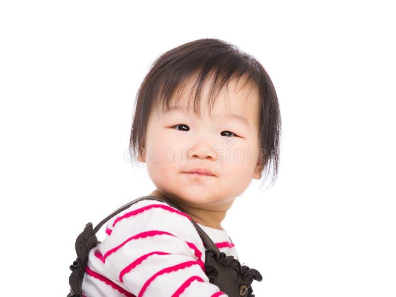 Behandla som ett barn att se för flicka royaltyfria foton
