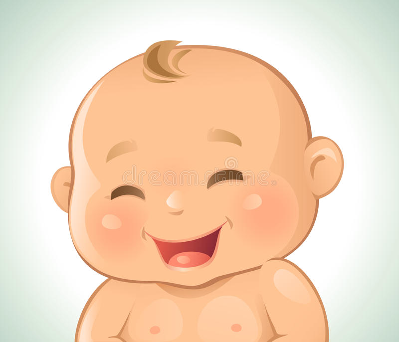 Behandla som ett barn att skratta för sinnesrörelser royaltyfri illustrationer