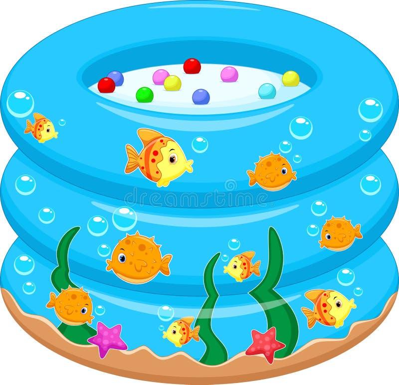 Behandla som ett barn badet badar tecknade filmen royaltyfri illustrationer