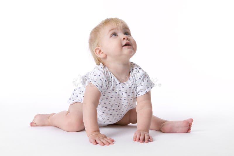 behandla som ett barn balettflickapos. royaltyfria bilder