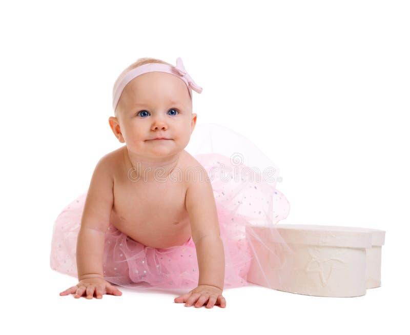 behandla som ett barn ballerinaen royaltyfri bild