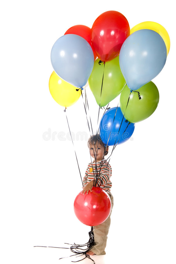 behandla som ett barn ballongen royaltyfri foto