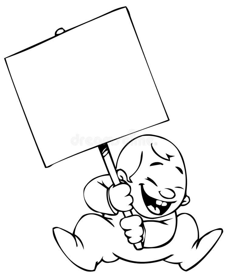 behandla som ett barn banret stock illustrationer