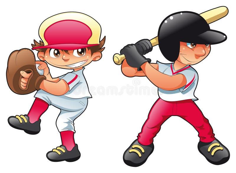 behandla som ett barn baseball royaltyfri illustrationer