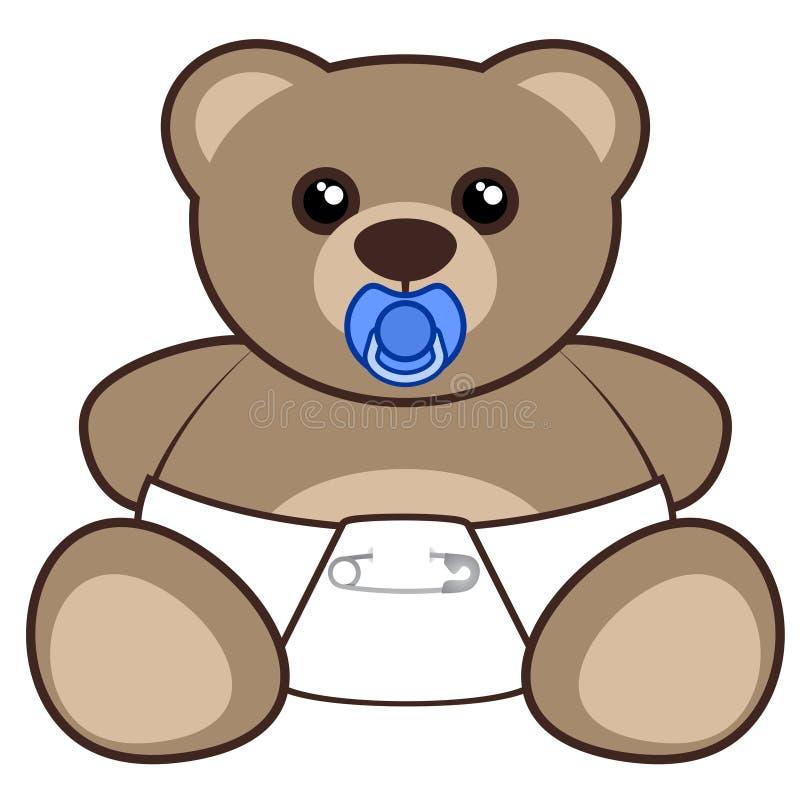 Behandla som ett barn björnen stock illustrationer
