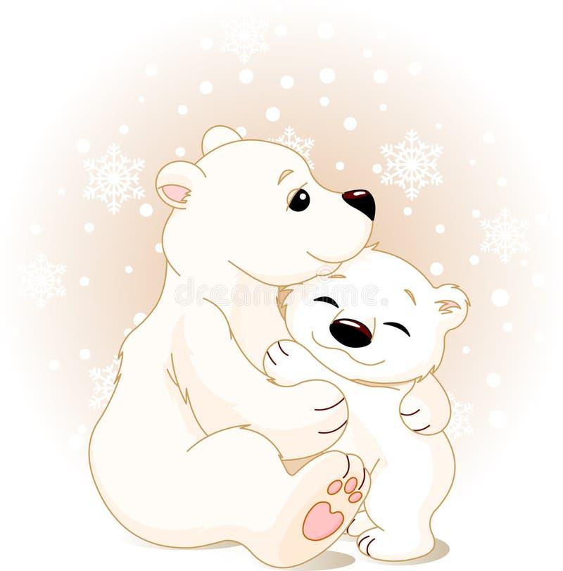 behandla som ett barn björnmodern stock illustrationer