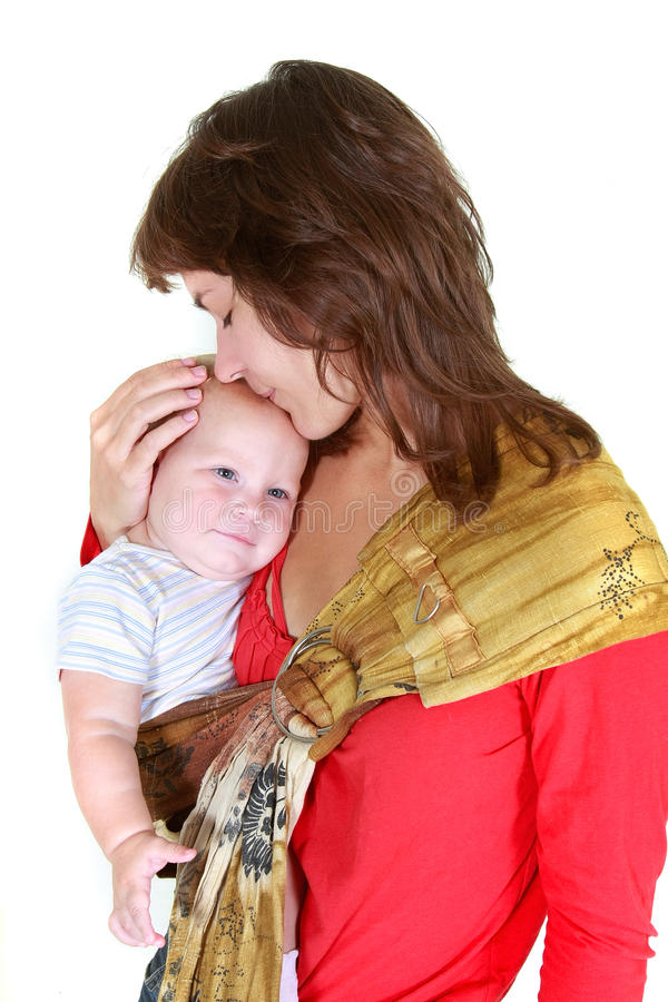 behandla som ett barn den älska modern royaltyfria bilder