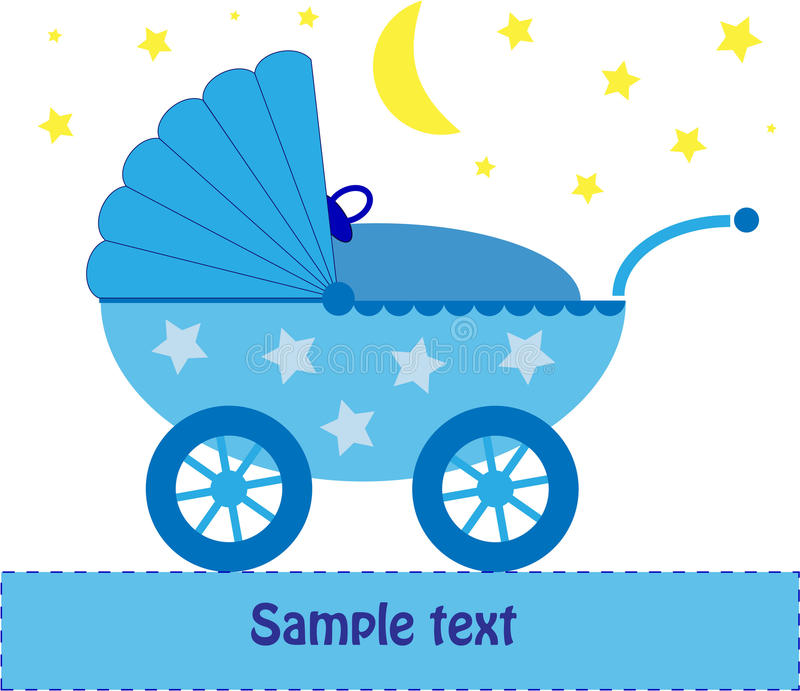 behandla som ett barn den blåa nattpramen vektor illustrationer