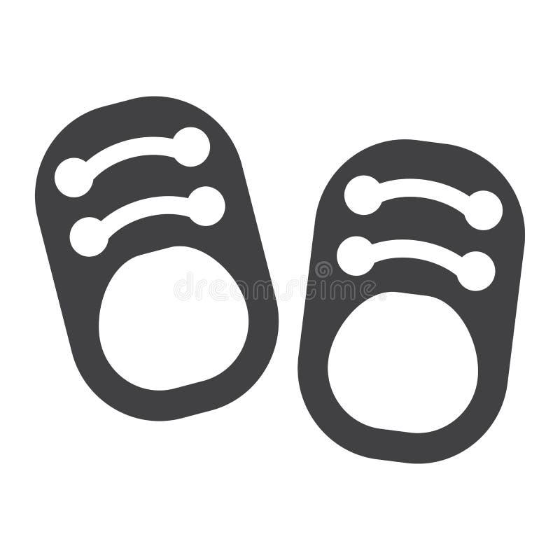 Behandla som ett barn den fast symbolen, skodon och mode för skor vektor illustrationer