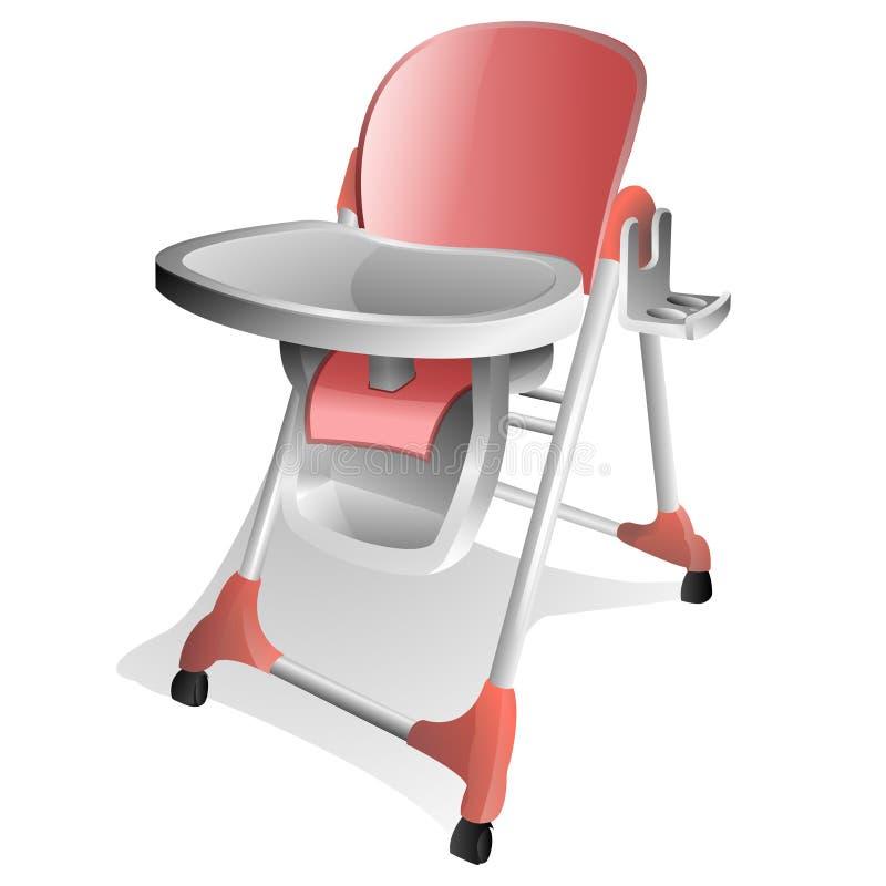 behandla som ett barn den höga stolen vektor illustrationer