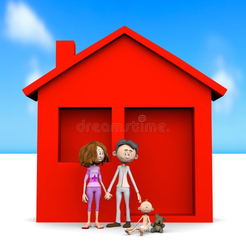 behandla som ett barn den lyckliga familjen vektor illustrationer