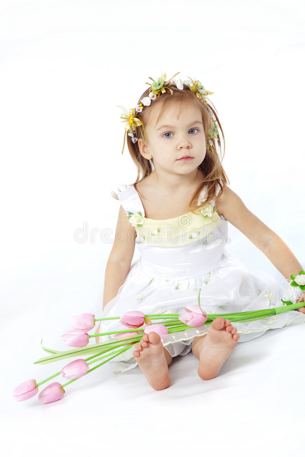 behandla som ett barn den söta flickan fotografering för bildbyråer