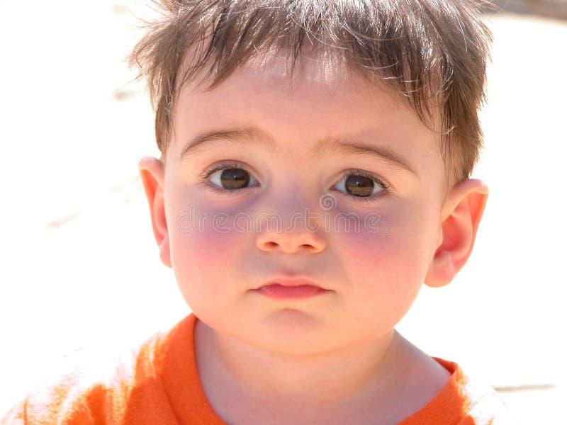 behandla som ett barn den söta pojken royaltyfria bilder