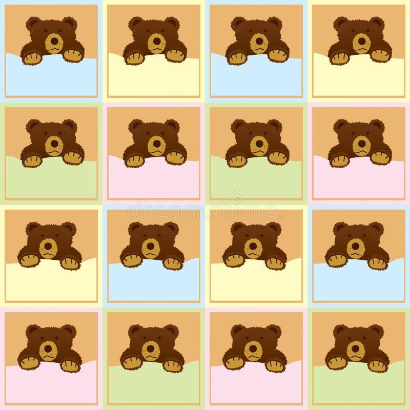behandla som ett barn den seamless bruna modellen för björnen arkivbilder