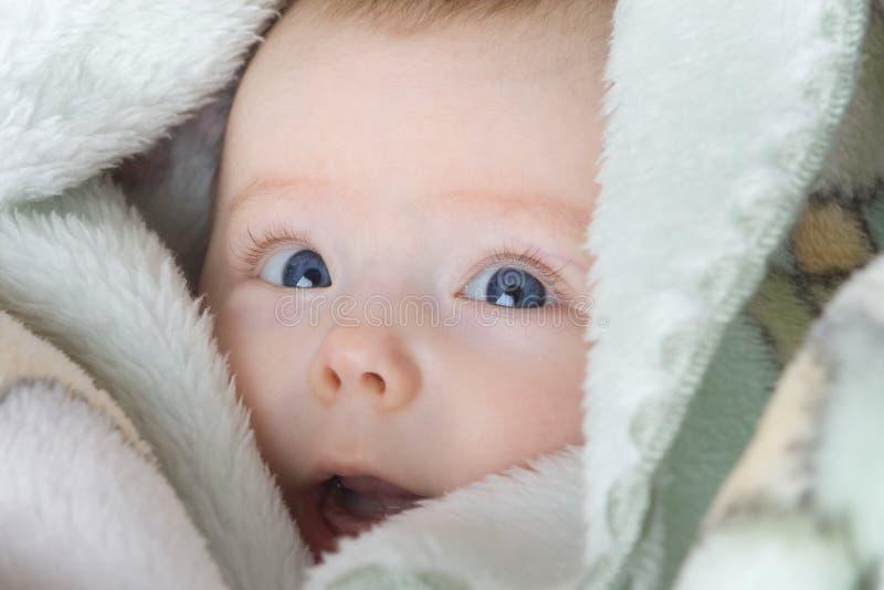 behandla som ett barn det gulliga spädbarn royaltyfri bild