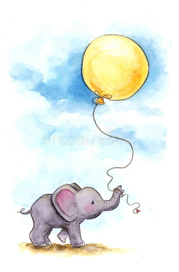 2009 behandla som ett barn det tagna elefantfotoet stock illustrationer