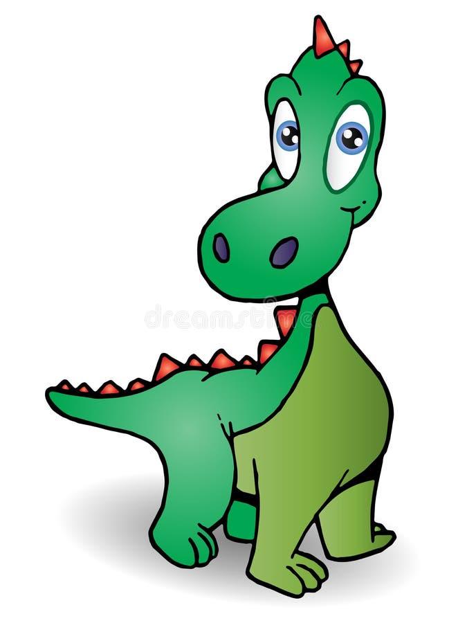 behandla som ett barn dinosauren vektor illustrationer