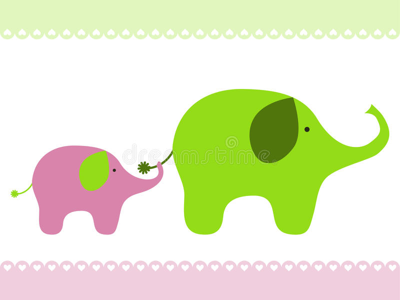behandla som ett barn elefanten royaltyfri illustrationer