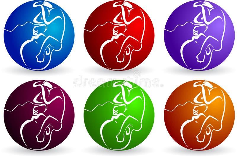 behandla som ett barn embryologoen vektor illustrationer