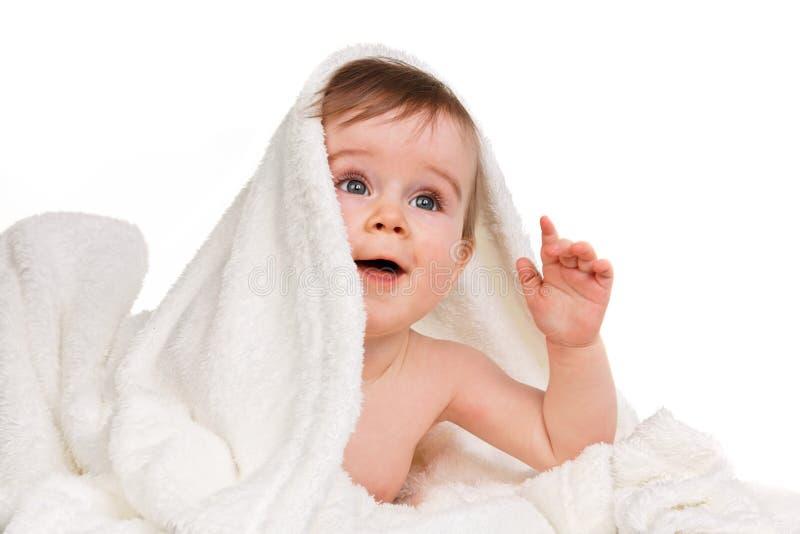 behandla som ett barn filten under royaltyfria bilder
