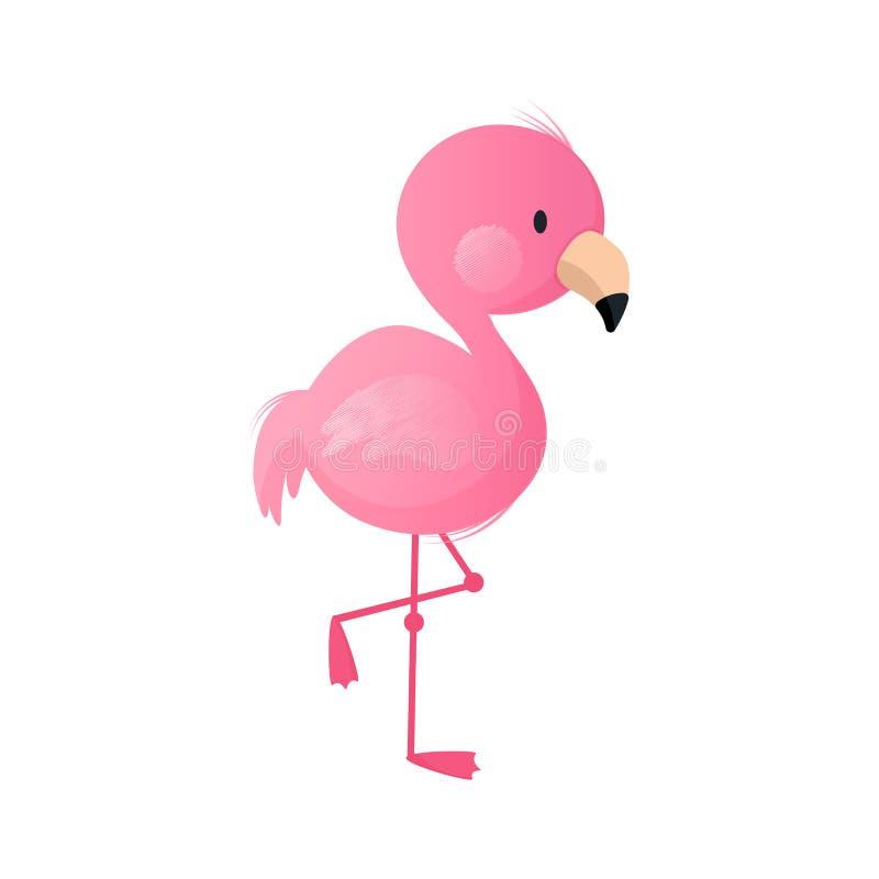 Behandla som ett barn flamingo stock illustrationer