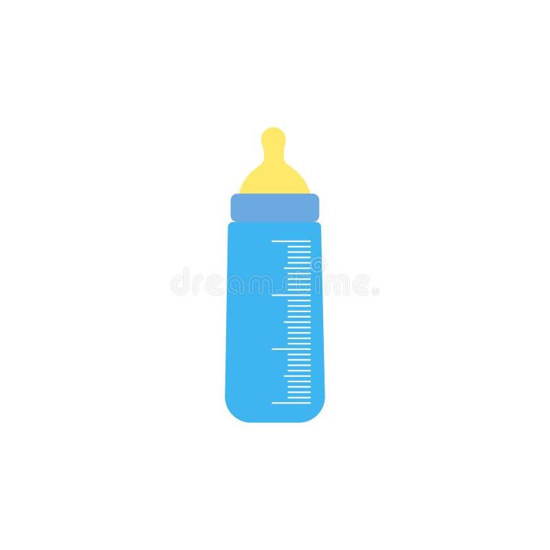 Behandla som ett barn flasksymbolen Grå färgbakgrund också vektor för coreldrawillustration vektor illustrationer