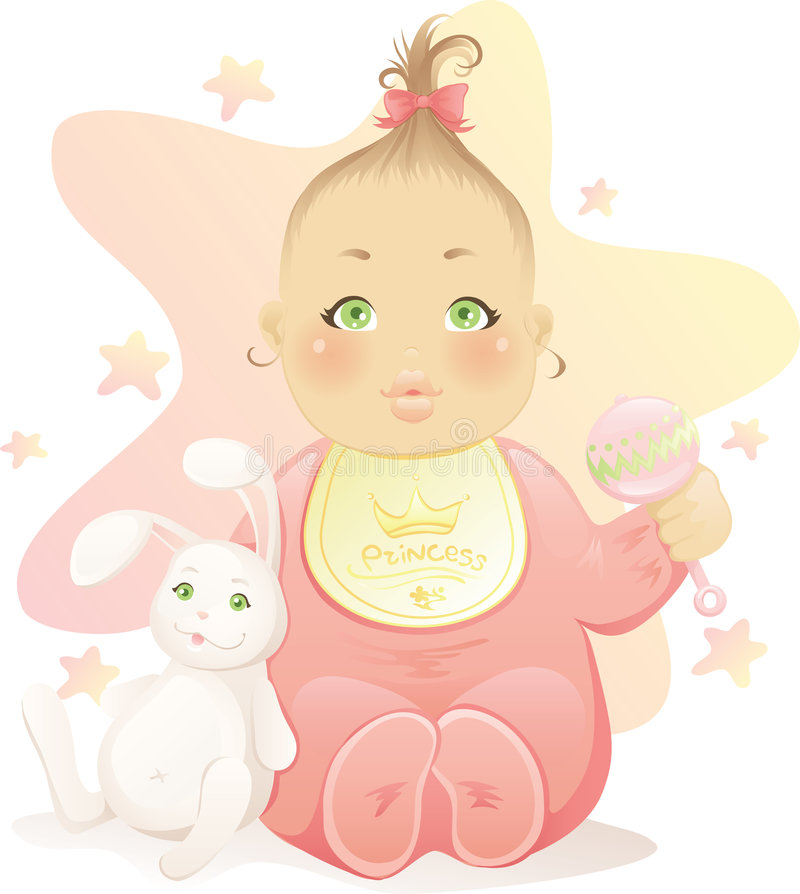 behandla som ett barn flickan royaltyfri illustrationer