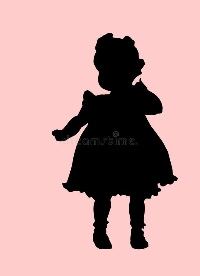 behandla som ett barn flickan stock illustrationer