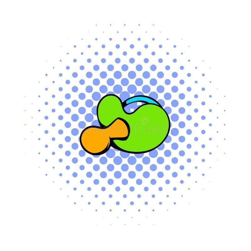 Behandla som ett barn fredsmäklaren med den gröna handtagsymbolen, komiker utformar royaltyfri illustrationer