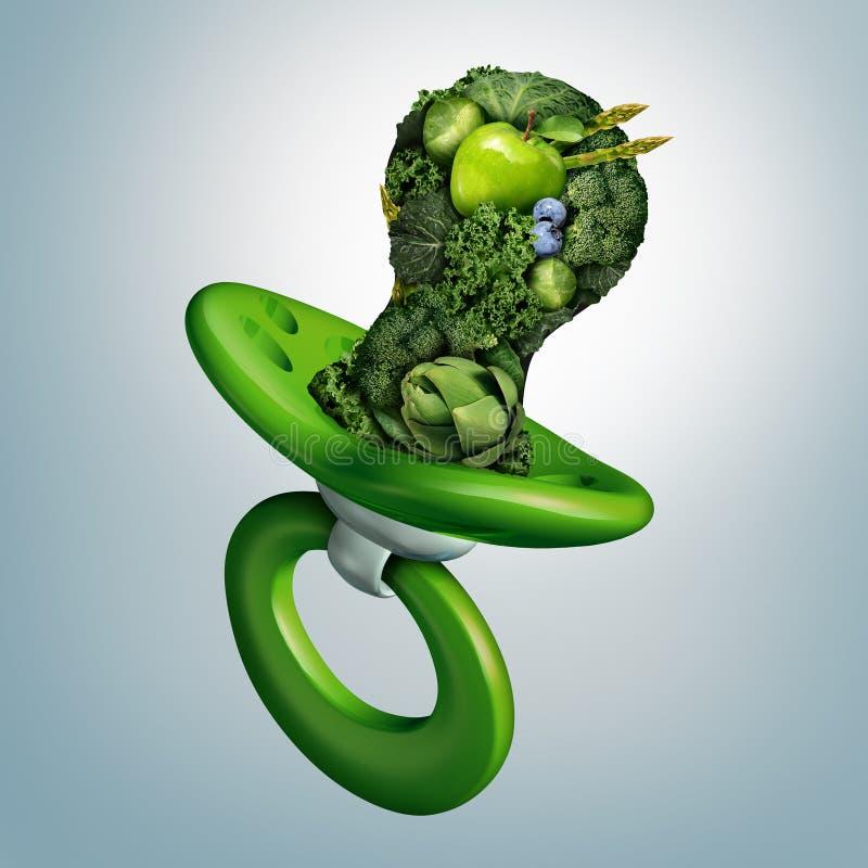 Behandla som ett barn frukt- och grönsaknäring vektor illustrationer