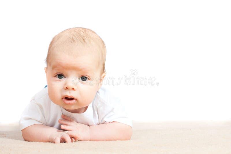 behandla som ett barn golvet little royaltyfria foton