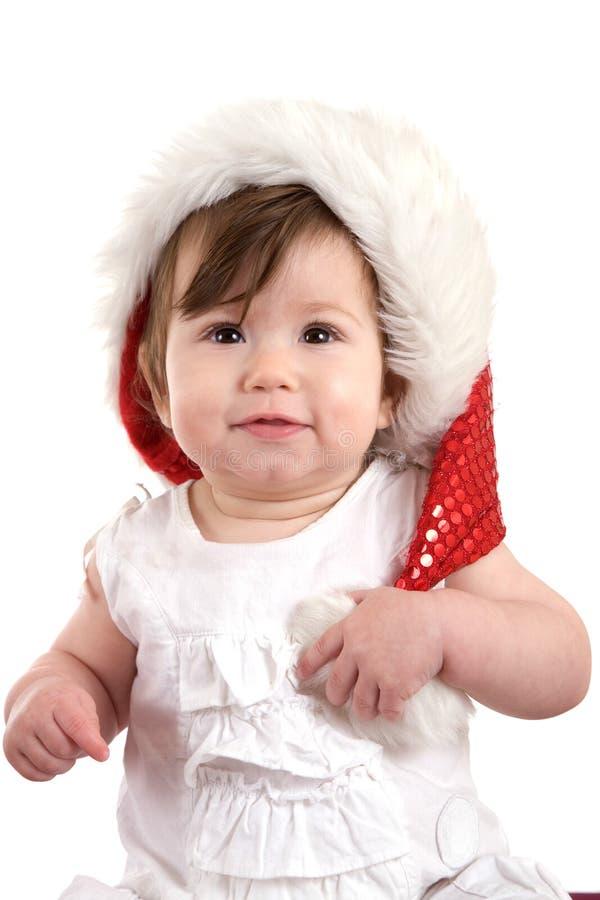 behandla som ett barn gullig jul arkivfoto