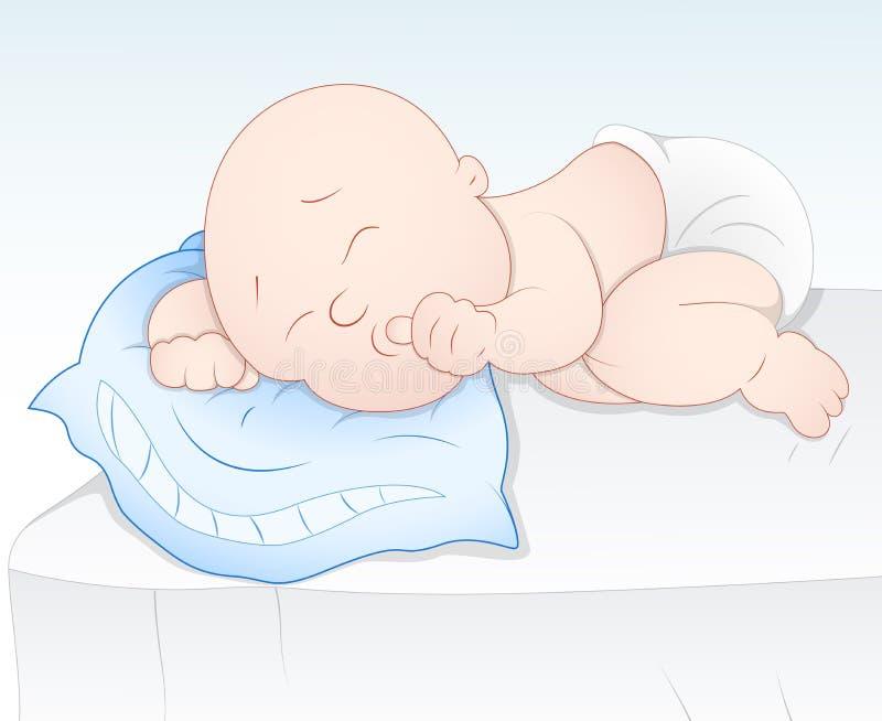 behandla som ett barn gulligt sova vektor illustrationer