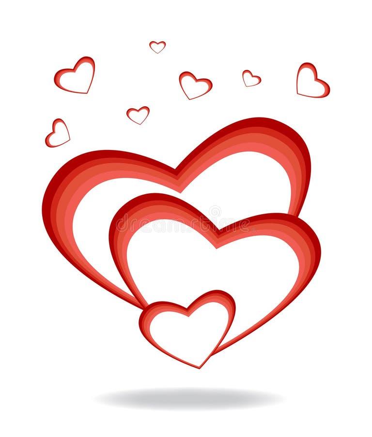 behandla som ett barn hjärta vektor illustrationer