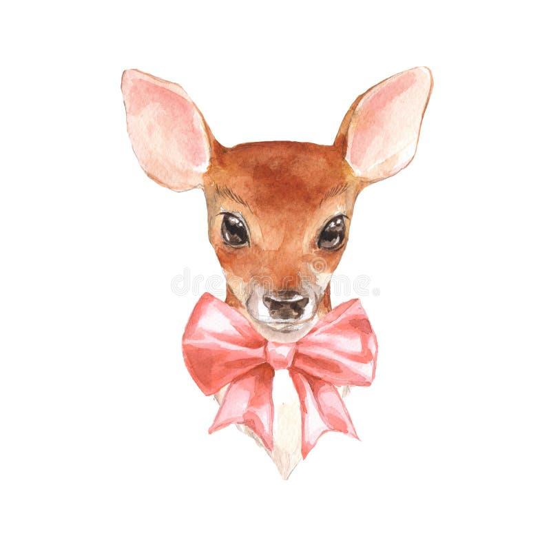 Behandla som ett barn hjortar Handen dragit gulligt lismar stock illustrationer