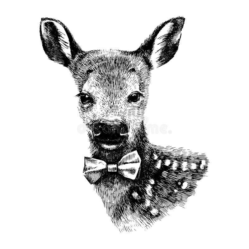 Behandla som ett barn hjorthipsteren royaltyfri illustrationer