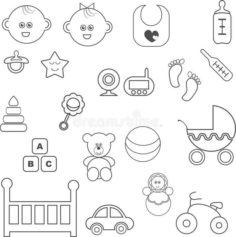 behandla som ett barn inställda symboler arkivbild